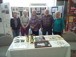 Various History Group members at the WW1 exhibition April 2017